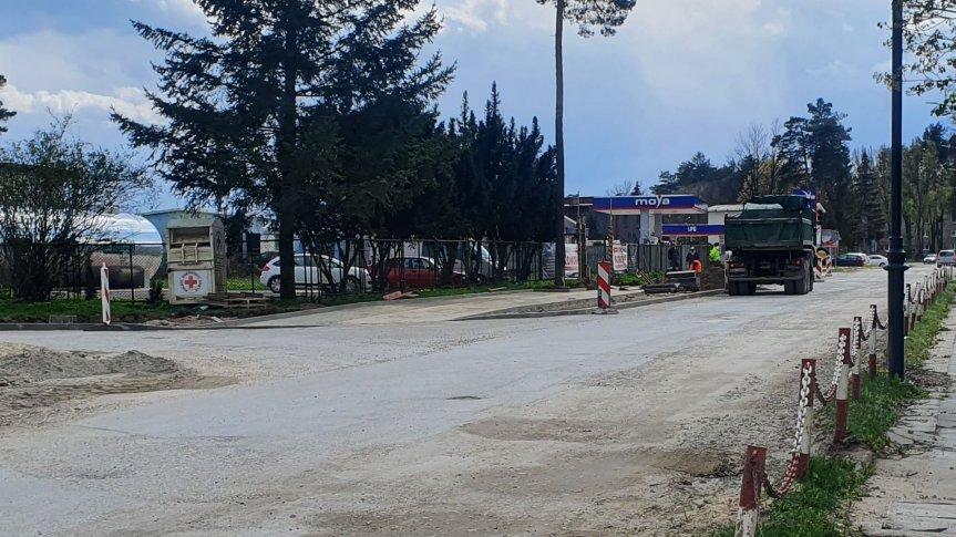 Trwa przebudowa dróg oraz chodników miejskich